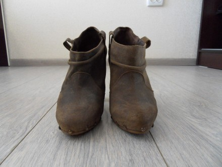 ЦЕНА СНИЖЕНА Туфли ботильоны stradivarius кожа замш 100%. Лубны. фото 1