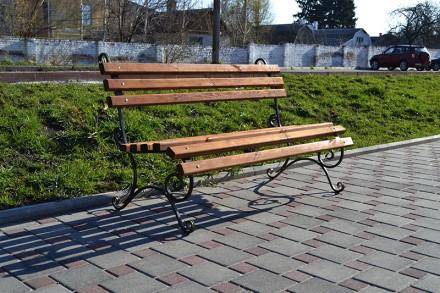 Материал боковин: труба 15х15mm. Габариты: 2000х650mm. Высота 860mm. Краска: т. Киев, Киевская область. фото 4