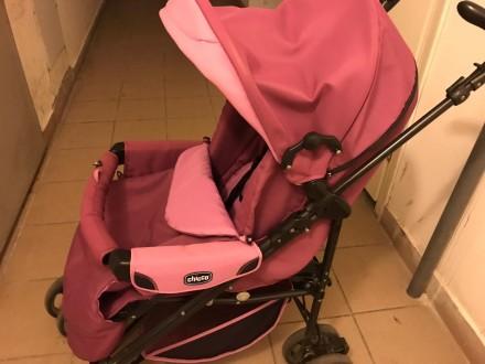 Продам коляску Chicco Enjoy Fun 3 в 1 розово-сиреневого цвета в отличном состоян. Бровары, Киевская область. фото 6