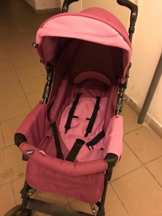 Продам коляску Chicco Enjoy Fun 3 в 1 розово-сиреневого цвета в отличном состоян. Бровары, Киевская область. фото 3