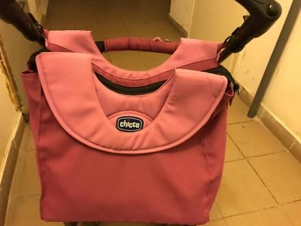 Продам коляску Chicco Enjoy Fun 3 в 1 розово-сиреневого цвета в отличном состоян. Бровары, Киевская область. фото 9