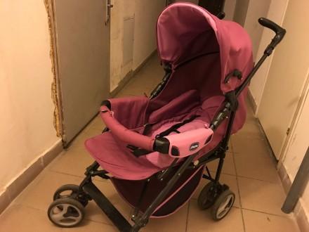 Продам коляску Chicco Enjoy Fun 3 в 1 розово-сиреневого цвета в отличном состоян. Бровары, Киевская область. фото 5