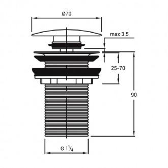 Донный клапан Q-tap F009-1 BLA Pop-up с переливом. Запорожье, Запорожская область. фото 3