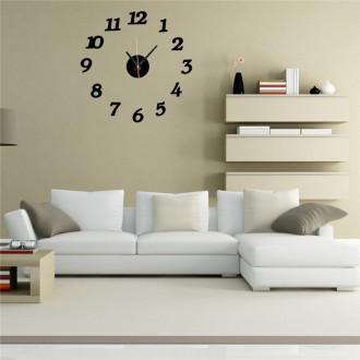 Настенные часы - стикеры с 3D-эффектом (арабские цифры). Миколаїв. фото 1