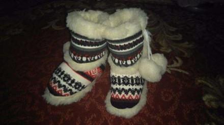Сапожки-носки(с овечьей шерсти). Хмельницкий. фото 1
