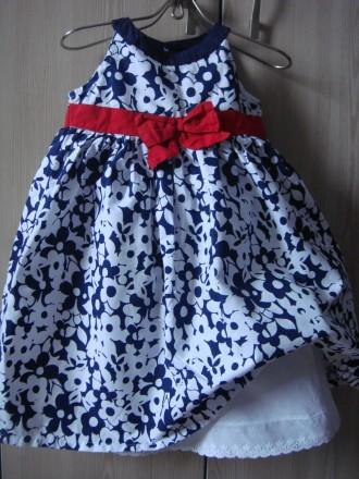 платье для девочки 12-18 мес Matalan, праздничное. Сумы. фото 1