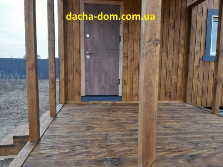 Домик 6×8.5 метров,включая террасу с доставкой и установкой по Киевской области.. Киев, Киевская область. фото 6