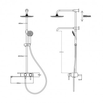 Душевая система Q-tap 1104 BLA. Запорожье, Запорожская область. фото 3