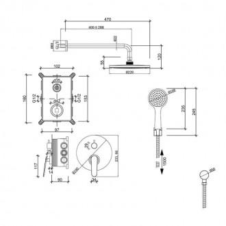 Душевая система скрытого монтажа Q-tap Inspai-Varius CRM V10250102. Запорожье, Запорожская область. фото 3