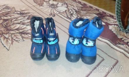 сапоги со снеговиком размер 28-29, вторые 24-25. Угледар, Донецкая область. фото 1