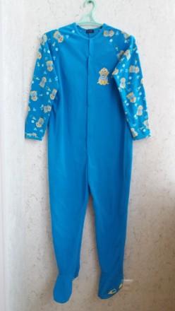 Флисовый комбинезон,  слип, пижама. Размер S. Длина изделия 146 см, длина ноги 7. Сумы, Сумская область. фото 2