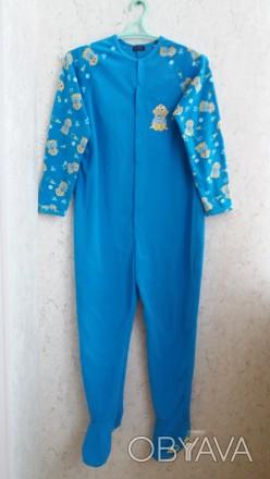 Флисовый комбинезон,  слип, пижама. Размер S. Длина изделия 146 см, длина ноги 7. Сумы, Сумская область. фото 1