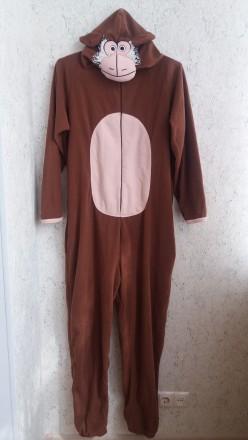 Флисовый комбинезон обезьяна, слип, пижама, размер L. Сумы. фото 1