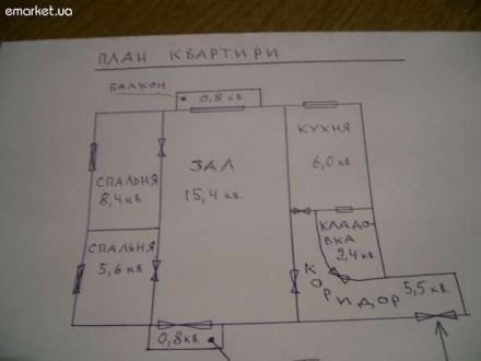 3-к квартира 45 м² на 2 этаже 2-этажного кирпичного дома пгт, Рокитное Ровенской. Луцк, Волынская область. фото 3