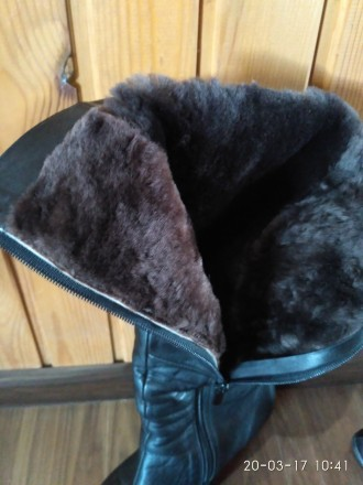 Продам женские зимние кожаные сапоги в отличном состоянии.  Размер 39, на широк. Кропивницкий, Кировоградская область. фото 6
