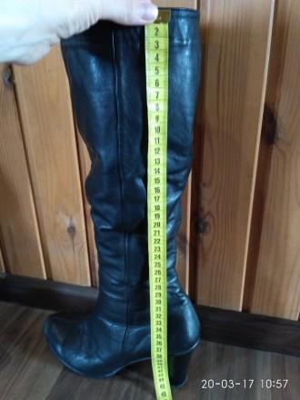 Продам женские зимние кожаные сапоги в отличном состоянии.  Размер 39, на широк. Кропивницкий, Кировоградская область. фото 7