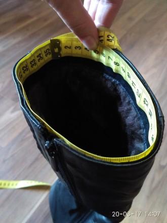 Продам женские зимние кожаные сапоги в отличном состоянии.  Размер 39, на широк. Кропивницкий, Кировоградская область. фото 8