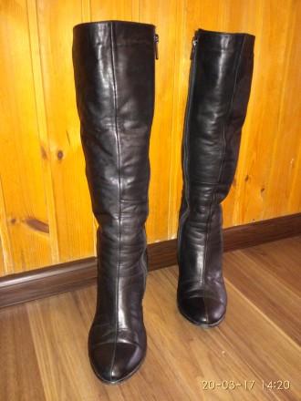 Продам женские зимние кожаные сапоги в отличном состоянии.  Размер 39, на широк. Кропивницкий, Кировоградская область. фото 3