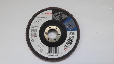 Круг пелюстковий випуклий 125 мм Best For Metal, Bosch   зерно Р120-20шт. Львов, Львовская область. фото 3