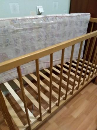 Продам дитяче ліжко з матрацом натуральним, ортопедичним(кокосові волокна), тако. Біла Церква, Киевская область. фото 3