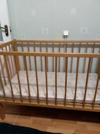 Продам дитяче ліжко з матрацом натуральним, ортопедичним(кокосові волокна), тако. Біла Церква, Киевская область. фото 2