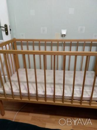 Продам дитяче ліжко з матрацом натуральним, ортопедичним(кокосові волокна), тако. Біла Церква, Киевская область. фото 1