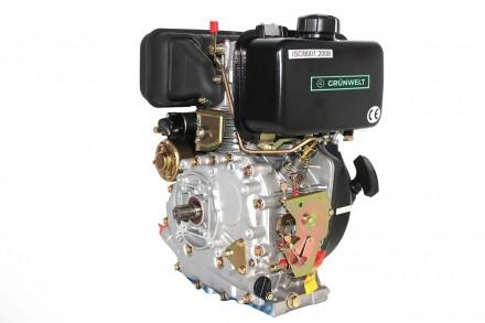 Двигатель дизельный GrunWelt GW178F (вал под шлицы, ручной старт) Дизельный двиг. Киев, Киевская область. фото 7