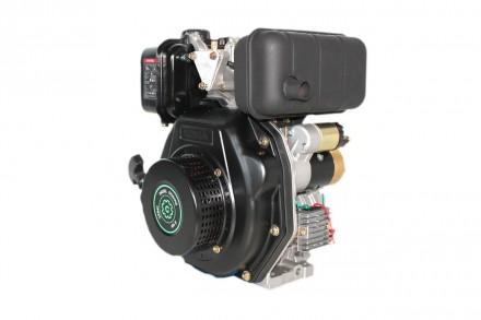Двигатель дизельный GrunWelt GW178F (вал под шлицы, ручной старт) Дизельный двиг. Киев, Киевская область. фото 2