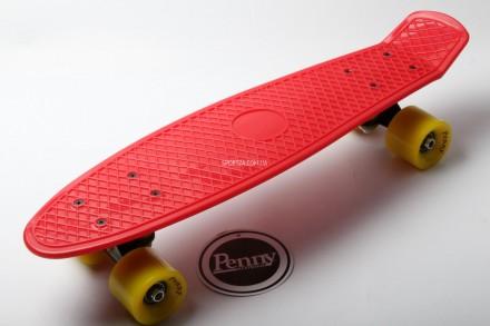 Penny Board Original 22 Красная Доска Желтые Колеса 95 кг. Киев. фото 1