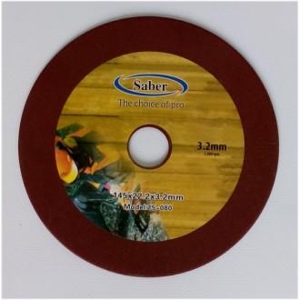 Абразивный диск для заточки пильных цепей 145х22,2х3,2. Буча. фото 1