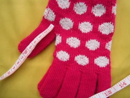 Яркие фирменные новые перчатки . Все замеры на фото. Без дефектов.. Пирятин, Полтавская область. фото 8