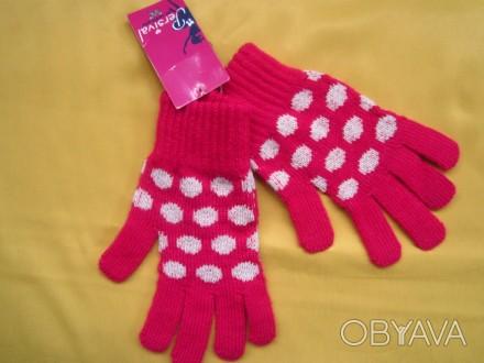 Яркие фирменные новые перчатки . Все замеры на фото. Без дефектов.. Пирятин, Полтавская область. фото 1