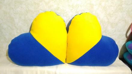 Декоративные подушки Сердце, разные расцветки, наполнитель холлофайбер специальн. Запорожье, Запорожская область. фото 4