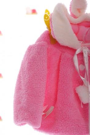 Накидка с бубоном  Накидка на пуговицах с капюшоном Мягкая на ощупь, теплая и ор. Мариуполь, Донецкая область. фото 4