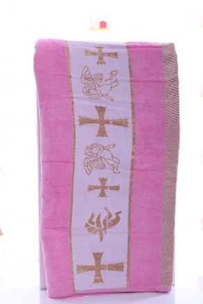 Крыжма Ангел розовый Крыжма или крестильное полотенце розового цвета из мягкой, . Мариуполь, Донецкая область. фото 2