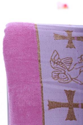 Крыжма Ангел розовый Крыжма или крестильное полотенце розового цвета из мягкой, . Мариуполь, Донецкая область. фото 3