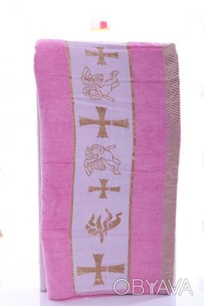 Крыжма Ангел розовый Крыжма или крестильное полотенце розового цвета из мягкой, . Мариуполь, Донецкая область. фото 1