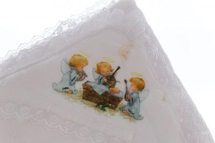 Крыжма с ангелочками. Производитель Турция. Размер 105*95 см Крыжма или крестиль. Мариуполь, Донецкая область. фото 3
