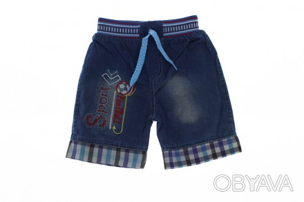 Шорты джинсовые Sport. Производитель Турция. Джинсовые шорты для мальчика , пояс. Мариуполь, Донецкая область. фото 1