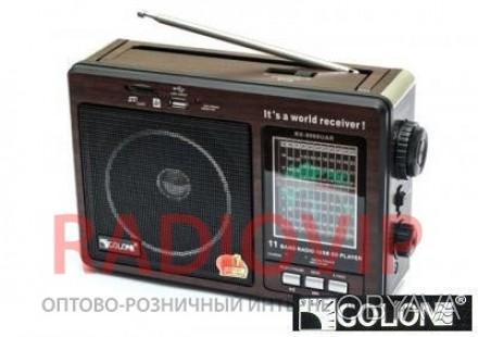 Радиоприёмник с простым, механическим управлением, громкий звук, FM/AM/SW1-9, ра. Киев, Киевская область. фото 1