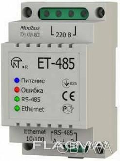Преобразователь интерфейсов ЕТ- 485 Modbus RTU/Ascii...