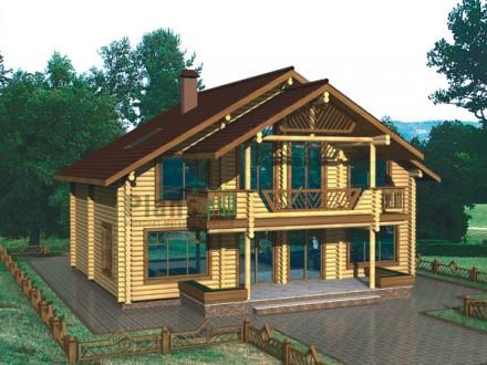 Деревянный срубовой дом 250м2. Бородянка. фото 1