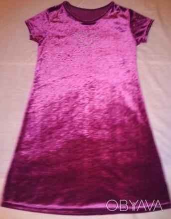 Бархатное платьице для девочки 10-11лет