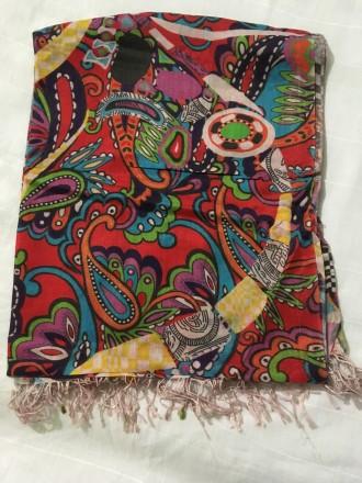 Модный шарф палантин, пашмина  (Бамбуковое волокно). Харьков. фото 1