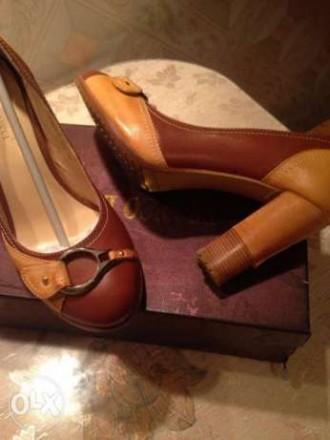 продам новые ,очень красивые туфли комбинированные коричневые с светло коричневы. Кропивницкий, Кировоградская область. фото 6