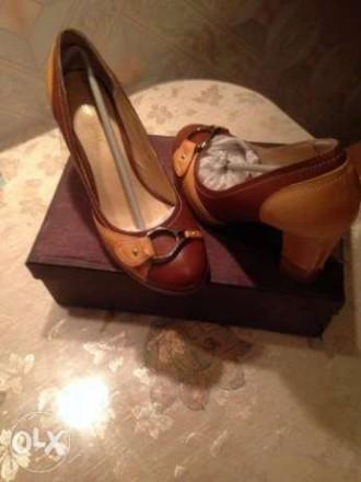 продам новые ,очень красивые туфли комбинированные коричневые с светло коричневы. Кропивницкий, Кировоградская область. фото 5