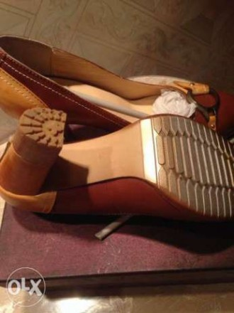 продам новые ,очень красивые туфли комбинированные коричневые с светло коричневы. Кропивницкий, Кировоградская область. фото 4