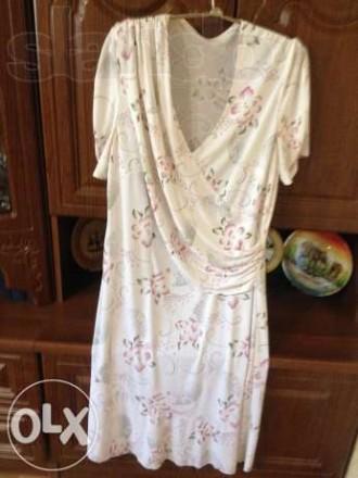 Продам очень красивое нарядное светлое платье, красивая драпировка на груди, оче. Кропивницкий, Кировоградская область. фото 5