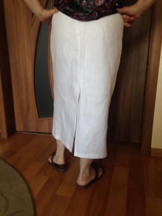 Продам красивую юбку лен сзади высокая шлица, на передней полочке молнии застежк. Кропивницкий, Кировоградская область. фото 3