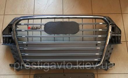 Решетка радиатора тюнинговая на Audi Q3 (2011-...) года выпуска. Решетка Audi Q3. Киев, Киевская область. фото 2
